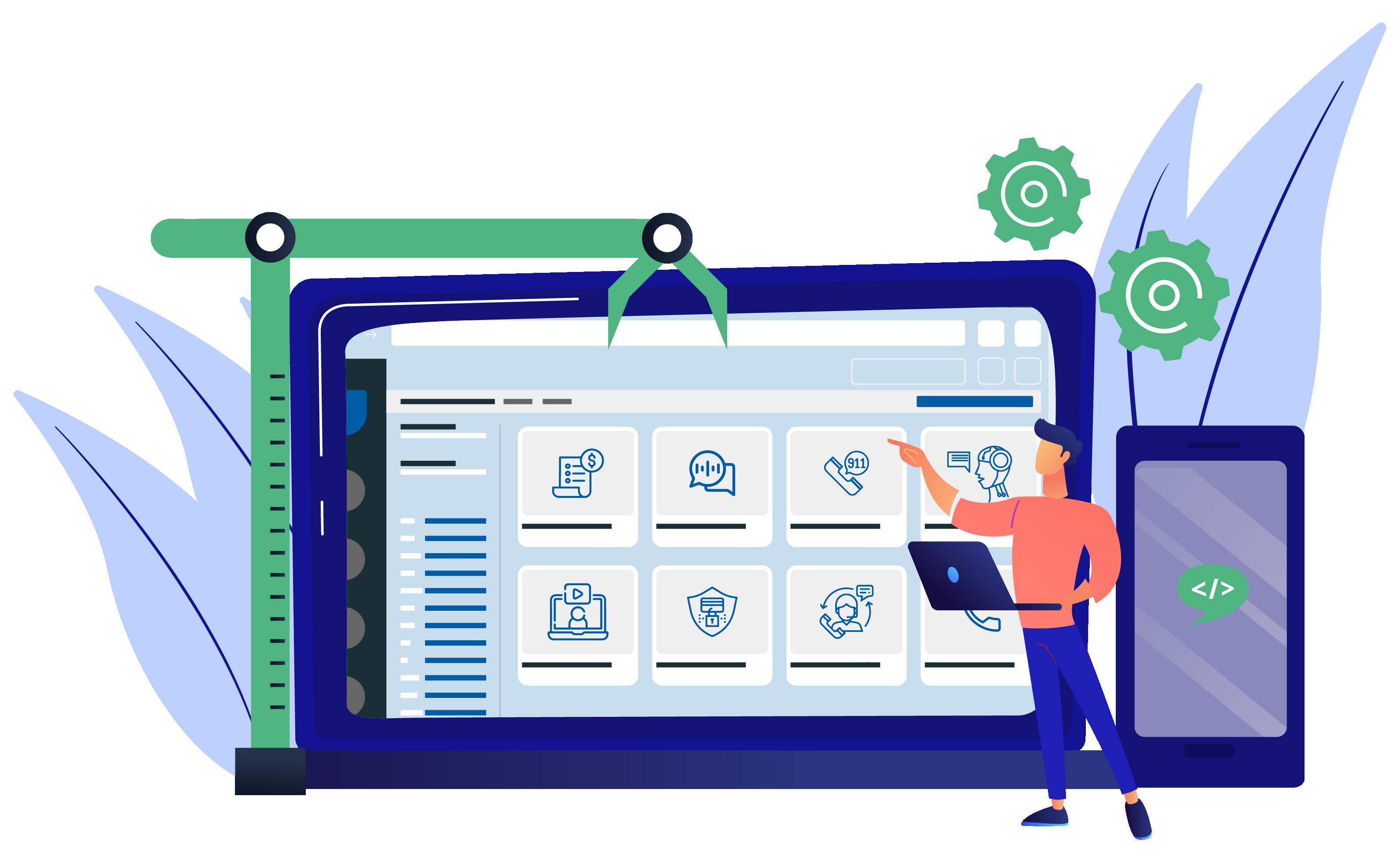 Communication APIs on desktop and mobile phone