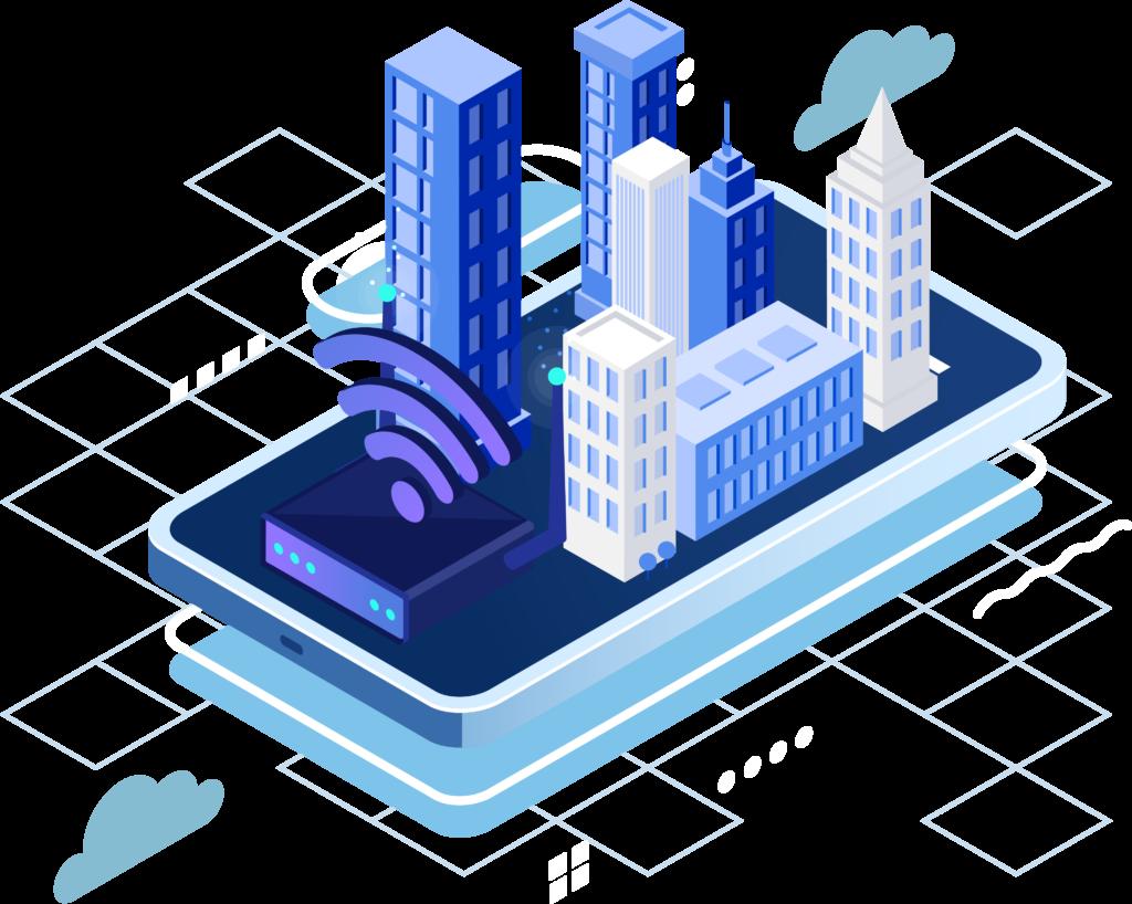 Telecom Network Illustration