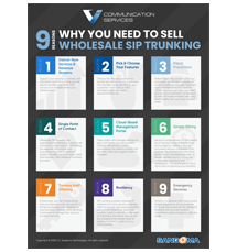 Top 9 Reasons Why You Need To Sell Wholesale SIP Trunking Infographic